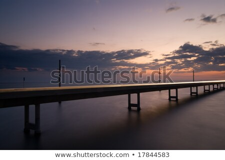 7 mile bridge at night stock photo © herrbullermann