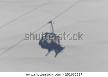 Esquí ascensor sombra naturaleza fondo montana Foto stock © HerrBullermann