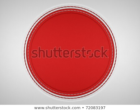 Red And Grey Stitched Circle Shape On Leather Stok fotoğraf © Arsgera