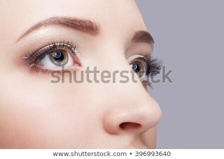 Meisjes oog make meisje lichaam Stockfoto © zastavkin
