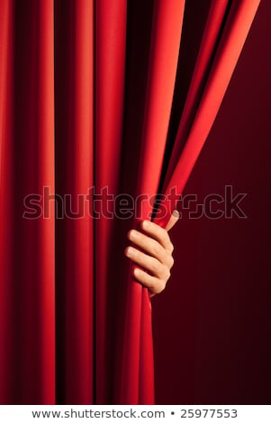 Red Curtain Hand Stock fotó © italianestro