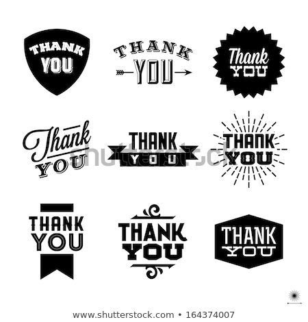 thank you vector stamp stock photo © gladcov