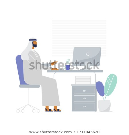 businessman character staying on white background Stock photo © goryhater