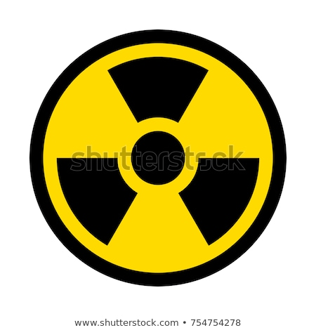 Zdjęcia stock: Nuclear Sign On White
