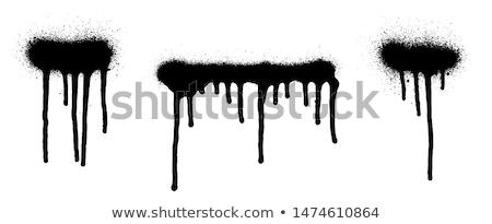 Foto stock: Pintura · color · aislado · blanco · fondo · verde