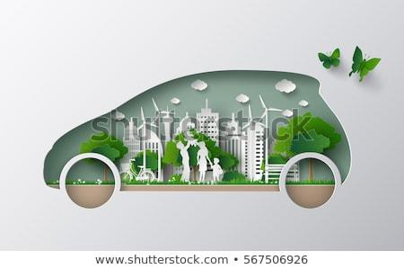 Photo stock: Résumé · eco · voiture · printemps · design · été