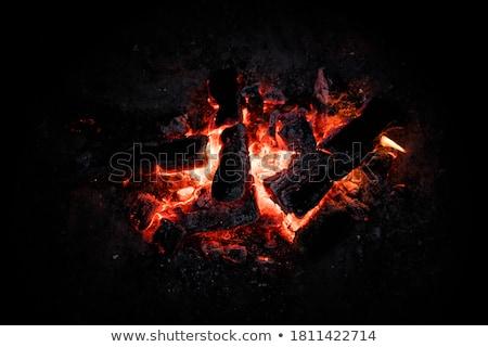 ストックフォト: ホット · バーベキューグリル · 赤 · エネルギー · バーベキュー