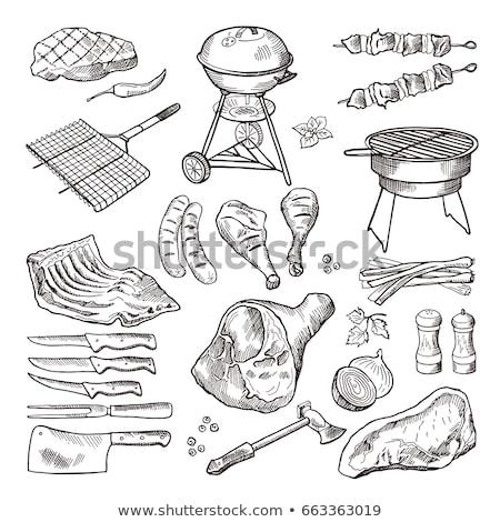 ソーセージ · 牛肉 · その他 · 肉 · バーベキュー · 食品 - ストックフォト © Gertje