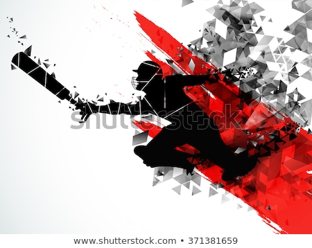 abstract cricket background stock photo © Pinnacleanimates
