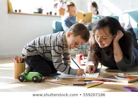 母親 · 子 · 品質 · 時間 · 一緒に · 家族 - ストックフォト © photography33