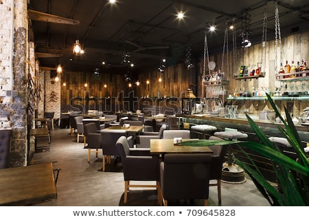 moderne · restaurant · interieur · ruim · schone · hout - stockfoto © photocreo