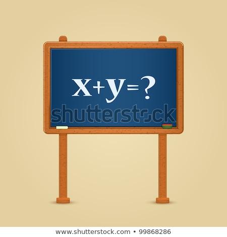 Math formula of x plus y Stock photo © bbbar