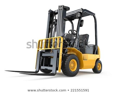 citromsárga · villa · lift · teherautó · izolált · fehér - stock fotó © kjpargeter