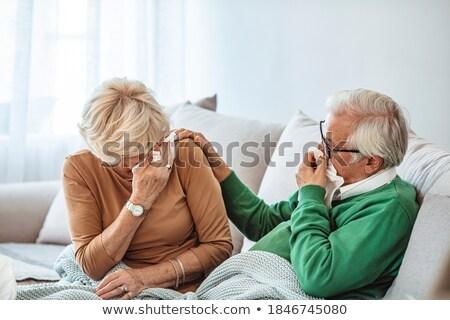 средний возраст пару кровать улыбка Сток-фото © photography33