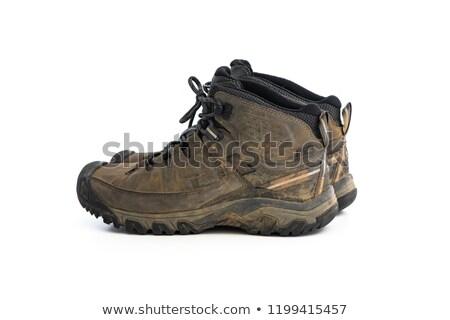 lamacento · botas · par · sujo · marrom · caminhada - foto stock © smithore