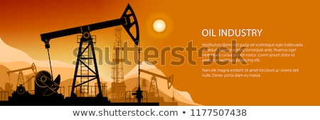 Stock photo: working oil pumps silhouette