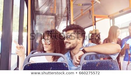 kadın · otobüs · okuma · kitap · kadın · kızlar - stok fotoğraf © photography33
