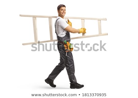 man carrying ladder stock photo © smithore