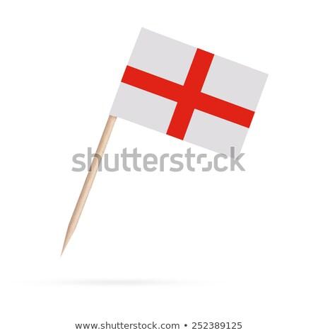 миниатюрный флаг Англии изолированный заседание Сток-фото © bosphorus