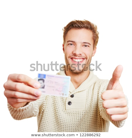 Tinédzser tart vezetés licenc autó boldog Stock fotó © photography33