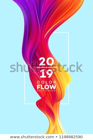 Soyut renkli dalga dizayn geri baskı Stok fotoğraf © pathakdesigner
