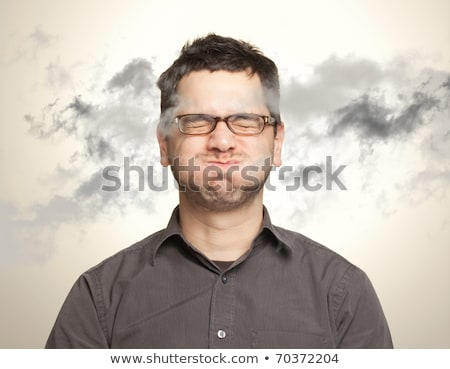 A businessman holding his breath Stock photo © photography33