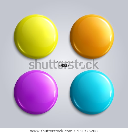 set of vector round simple 3d bubbles vector illustration © petr