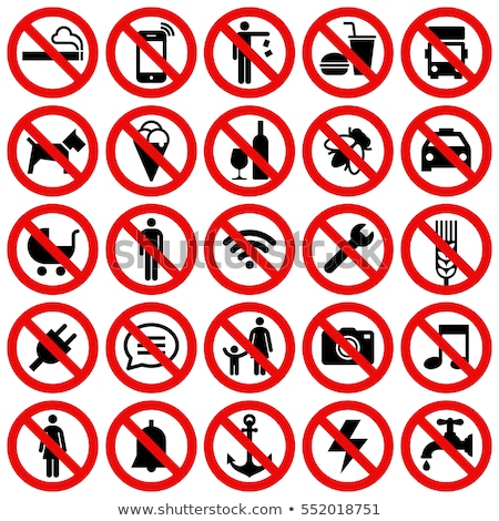 forbidden signs set Stock photo © romvo