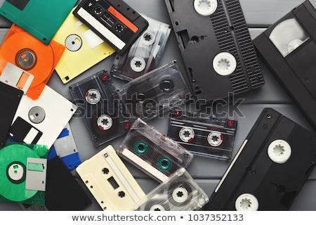 старые СМИ оборудование набор черный белый Сток-фото © igorij