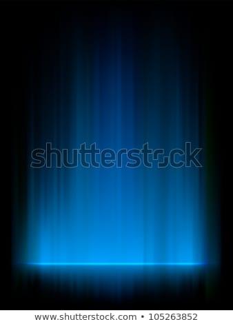 Blue northern lights, aurora borealis. EPS 8 Stock photo © beholdereye