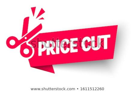 Fiyatlar çift makas kelime satış Stok fotoğraf © mscottparkin