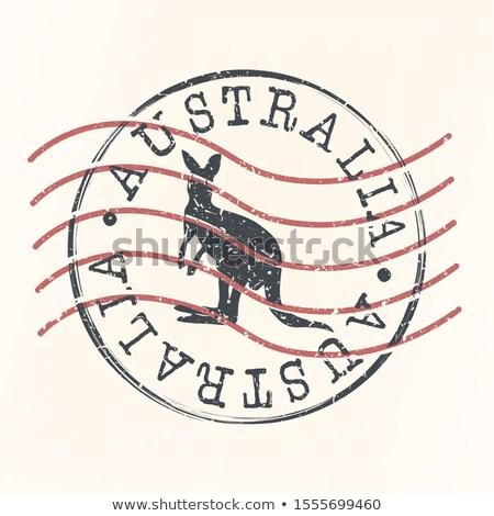 Ausztrál posta bélyeg Ausztrália klasszikus postabélyeg Stock fotó © Taigi