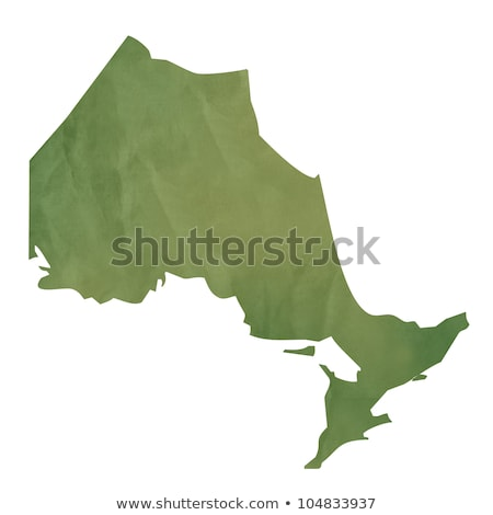 Stock photo: Ontario map on green paper