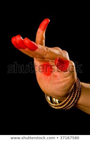 Hamsapaksha hasta of indian dance Bharata Natyam Stock photo © dmitry_rukhlenko
