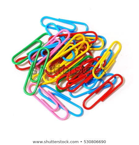 colored paper clips isolated stock photo © shutswis