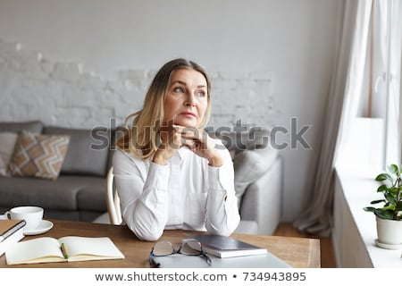 Woman with writer's block Stock photo © photography33