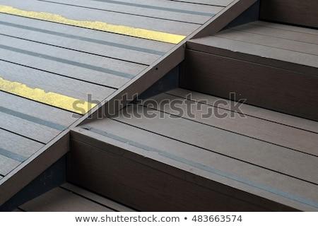 Verweerde oprit oude staal aluminium schepen Stockfoto © bobkeenan