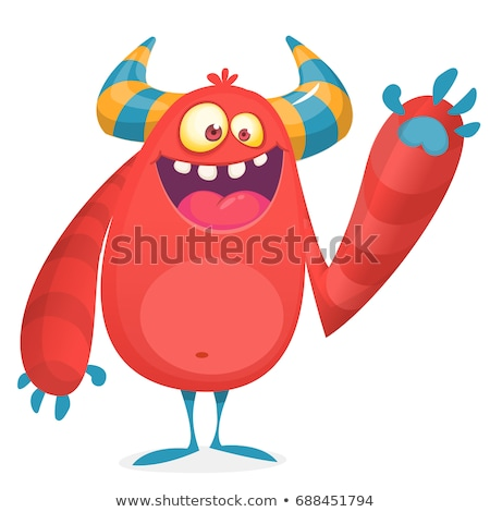 Rood cartoon monster knorrig scary Stockfoto © blamb