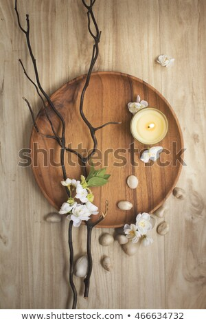Candle and pebbles stock photo © yul30