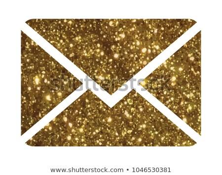 ストックフォト: 抽象的な · アイコン · 手紙 · 通信