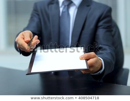 biznesmen · list · ręce · odizolowany · biały · strony - zdjęcia stock © rtimages