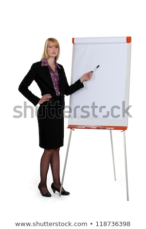 businesswoman pointing at paperboard with marker Stock photo © photography33