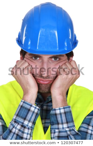A grumpy and frustrated tradesman Stock photo © photography33