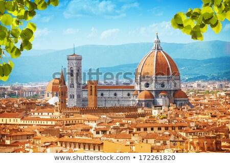 Bazilika Floransa İtalya kule ünlü Stok fotoğraf © michey