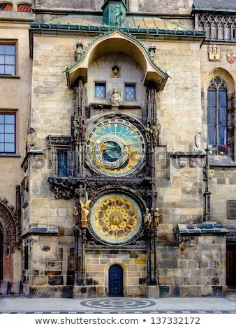 Famous Prague monuments: astronomical clock (Prague Orloj)  Stock photo © lightpoet