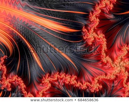 Rood · fractal · bloem · abstract · behang · bruin - stockfoto © michey