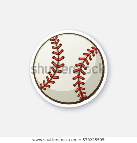 Stok fotoğraf: Beysbol · top · vektör · görüntü · karikatür