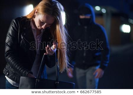 woman on night road Stock photo © ssuaphoto