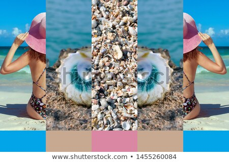 Bright collage made of  pictures on the beach Stock photo © wavebreak_media