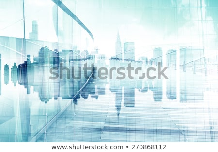 abstract · stadsgezicht · business · stad · reflectie · kaart - stockfoto © WaD
